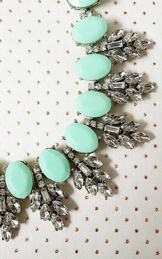 Minty sparkle necklace - Originally $78, on sale for $20 today! http://rstyle.me/n/khfnkn2bn