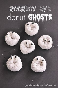 Googly Eye Donut Ghosts!  These faces crack me up! :-)