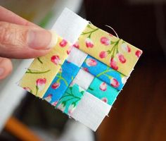 This free quilt block is a scrap buster for sure! Find it on Craftsy. Rainbow Flowers Mini Block