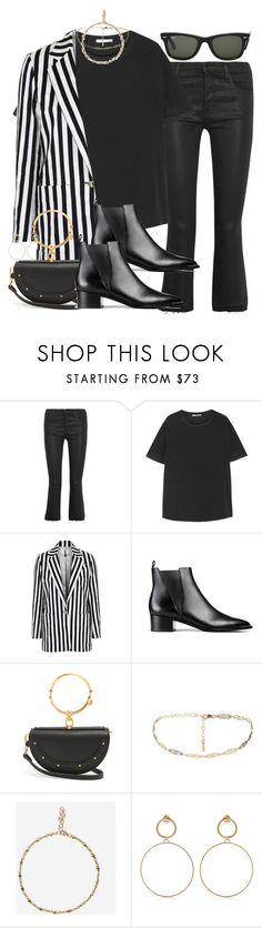 """""""Sin título #4449"""" by hellomissapple ❤ liked on Polyvore featuring J Brand, T By Alexander Wang, Topshop, Ray-Ban, Acne Studios, Chloé and Maria Francesca Pepe"""