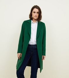Discover the latest trends at New Look. Formal Coat, Black Singles, New Wardrobe, Wardrobe Ideas, Green Jacket, Single Breasted, New Look, Latest Trends, Winter Fashion