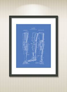 This reproduction was digitally restored and in some cases altered to remove defects or unwanted artifacts present in the original #patent document.  Buy more and save! Buy ... #patentart #art #print #gift #digital #download #instant #wall #printable #medical #paramedic #science