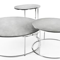 Gravelli coffee tables set AIRSTEEL (in grey with smooth surface) Smooth Concrete, Concrete Slab, Concrete Design, Concrete Coffee Table, Coffee Tables, Minimalist Beauty, Table Sizes, Steel Table, Table Settings