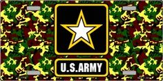 United States Army Star Novelty Vanity Metal License Plate Tag Sign
