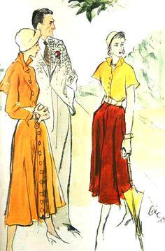 Fashion illustration by Eric (Carl Erickson), 1949