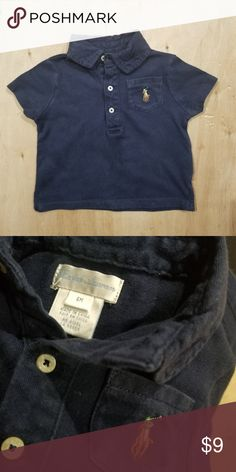 6M Infant Boy Ralph Lauren Polo Navy Shirt ☆Good condition  ☆Clean, stain free  ☆Smoke and pet free  ☆ No holds/trades Polo by Ralph Lauren Shirts & Tops