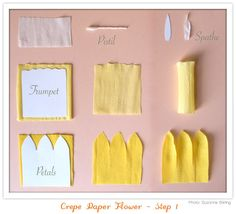DIY - How to make Crepe Paper Daffodils