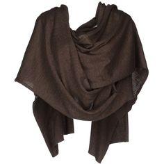 VIKTOR & ROLF Shrug ($225) ❤ liked on Polyvore featuring outerwear, scarves, accessories, jackets, tops, dark brown, short sleeve shrug, shrug cardigan, viktor & rolf and brown shrug