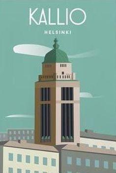 Helsinki, Caravan, Maps, Cities, Table Lamp, Posters, Studio, Illustration, Design