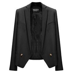 BALMAIN Cool Wool Jacket ❤ liked on Polyvore