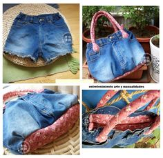 Best 12 A short and sweet tutorial on how to turn a pair of old denim jeans into a nice purse or tote bag. Jean Crafts, Denim Crafts, Diy Sac, Jean Purses, Denim Handbags, Patchwork Jeans, Denim Purse, Denim Ideas, Creation Couture