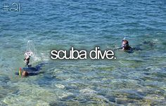"""Scuba dive"" - Done!  In 2010, I became advanced open water certified while in veterinary school on St. Kitts."