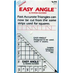 Quilters Rule Mini Square Vintage 1987 Hard Plastic Template Betty ... : template plastic for quilting - Adamdwight.com