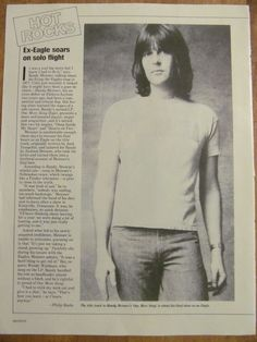 Randy Meisner, The Eagles, Full Page Vintage Clipping