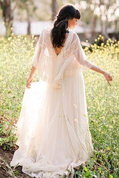 Bohemian wedding dress by Miss Tashina