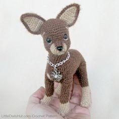 059 Toy Terrier dog Crochet Pattern PDF file Amigurumi by