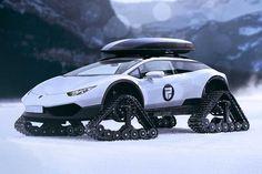 Lamborghini Huracán Snowmobile Concept by Rain Prisk