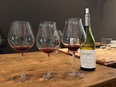 Taste test. Bolney Estate Pinot Noir from RIEDEL Old World and New World and Central Otago Pinot Noir glasses