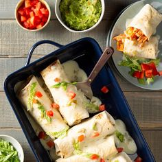 My baked chimichanga recipe is healthier than a deep-fried version, but it's just as delicious. You can omit the chilies for less heat. —Angela Oelschlaeger, Tonganoxie, Ways to Use Up a … Mexican Dishes, Mexican Food Recipes, Dinner Recipes, Dinner Ideas, Yummy Recipes, Dinner Outfits, Fisher, Chimichanga Recipe, Restaurant