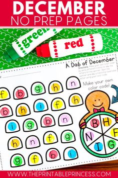 This no prep activities printables pack contains 37 pages of gingerbread and winter themed literacy and math activities pages for your kindergarten students.
