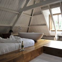 29 Ultra Cozy Loft Bedroom Design Ideas what about a tub in a tiny house loft?