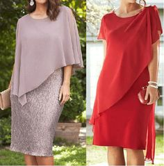 Pattern of cocktail dress for lush ladies (Sewing and cutting) - Magazine Inspiration of the Needlework Elegant Dresses, Casual Dresses, Fashion Dresses, Groom Dress, The Dress, Special Occasion Dresses, Dress Patterns, African Fashion, Plus Size Fashion