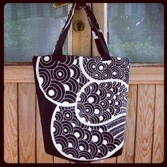 My big DIY bag! Sewing Tutorials, Sewing Projects, Project Ideas, Craft Ideas, Diy Purse, Diy Bags, Diy Accessories, Diy Organization, Beautiful Bags