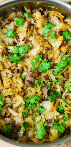 Asian Beef, Broccoli, and Cabbage Stir-Fry – so easy-to-make and healthy! Cabbage cooked until soft in a simple homemade Asian sauce! Great dinner or side dish!