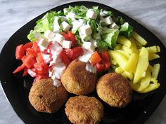 Recipe for healthy falafel Delicious Vegan Recipes, Healthy Recipes, Vegan Vegetarian, Vegetarian Recipes, Vegan Food, My Favorite Food, Favorite Recipes, Everyday Dishes, Food Intolerance