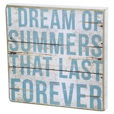 'Summer Forever' wall decor