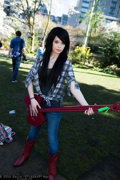 Destiny Hand Cannon, Fright Night, Super Long Hair, Marceline, Mikasa, Refashion, Adventure Time, Cosplay Costumes, Sunday