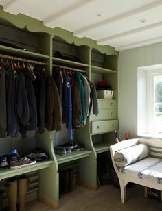 English boot room - who needs a mud room in GA?  I just want this to be my closet!