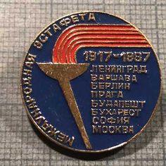 RARE-INTERNATIONAL-RELAY-1917-1987-MOSCOW-70-YEARS-JUBILEE-BADGE-PIN