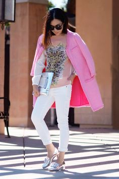 Soft Palate: Pink Coat and Silver Shoes - Hallie Daily