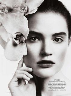 all in bloom: katie fogarty by david slijper for uk harper's bazaar may 2013