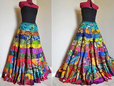 Chasing The Muse   OOAK Long African Skirt by BarefootModiste, $167.00