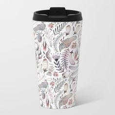 Veggies and flowers Metal Travel Mug