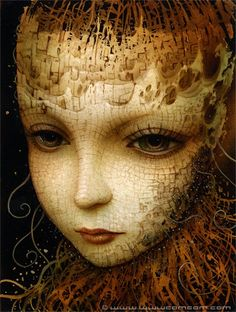 naoto hattori's haunting style like this but eyes forward looking out towards reader offset for corner title insertion