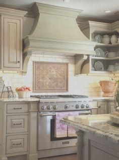 Kitchen Hood Design, Kitchen Vent, Country Kitchen Designs, Kitchen Hoods, Kitchen Layout, Kitchen Ideas, Kitchen Cabinets, Elegant Kitchens, Cool Kitchens