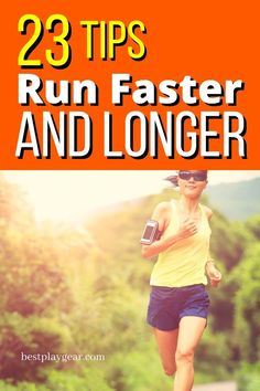 Top 23 Tips To Run Faster And Longer - Running tips to run faster and longer. These tips will take your running to the next level. Marathon Tips, Half Marathon Training, Marathon Running, Running On Treadmill, Running Workouts, Running Plan, Workout Tips, Trail Running, Learn To Run