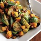 Try the Brussels Sprouts & Butternut Squash with Bacon Vinaigrette Recipe on williams-sonoma.com/