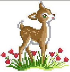 14ct Counted Cross Stitch Kits~New about world of patterns Needlepoint~Fawn Deer