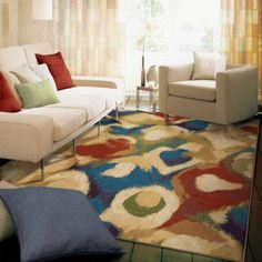 Orian Rugs Broken Glass Abstract Multi Area Rug, 710 Inch X 1010 Inch,  Multicolor