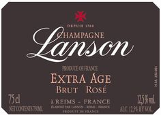 Lanson Extra Age X.A. Brut Rose Champagne by Lanson (Sparkling Wine)