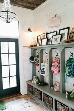 family mudroom | Style Me Pretty