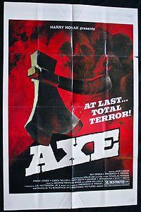 Festive #Halloween Decoration - AXE (1974, aka The Virgin Slaughter) Original Movie Poster    #Horror #Film #Slasher