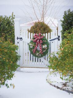Wreath as Christmas decoration @P. Allen Smith