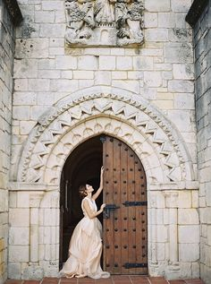 Blush wedding dress by Chaviano Couture. Bridal portrait at The Ancient Spanish Monastery in North Miami Beach, FL. Wedding hair and makeup by A Touch of Beauty by Lily, hairpiece by Twigs & Honey from Ivory & Beau. Image by Simply Sarah Photography. Luxury Wedding Dress, Sexy Wedding Dresses, Wedding Hair And Makeup, Wedding Beauty, Sarah Photography, Wedding Photography, Miami Wedding, Wedding Day, Wedding Stuff