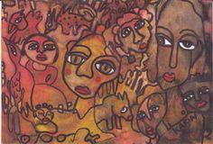 Naive Art : By Karin Dempsey Greenwood. Vibrant Colors, Colours, Different Media, Naive Art, Vivid Colors