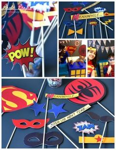 superhero photo props